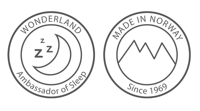Wonderland Ambassador of Sleep. Made in Norway since 1969.