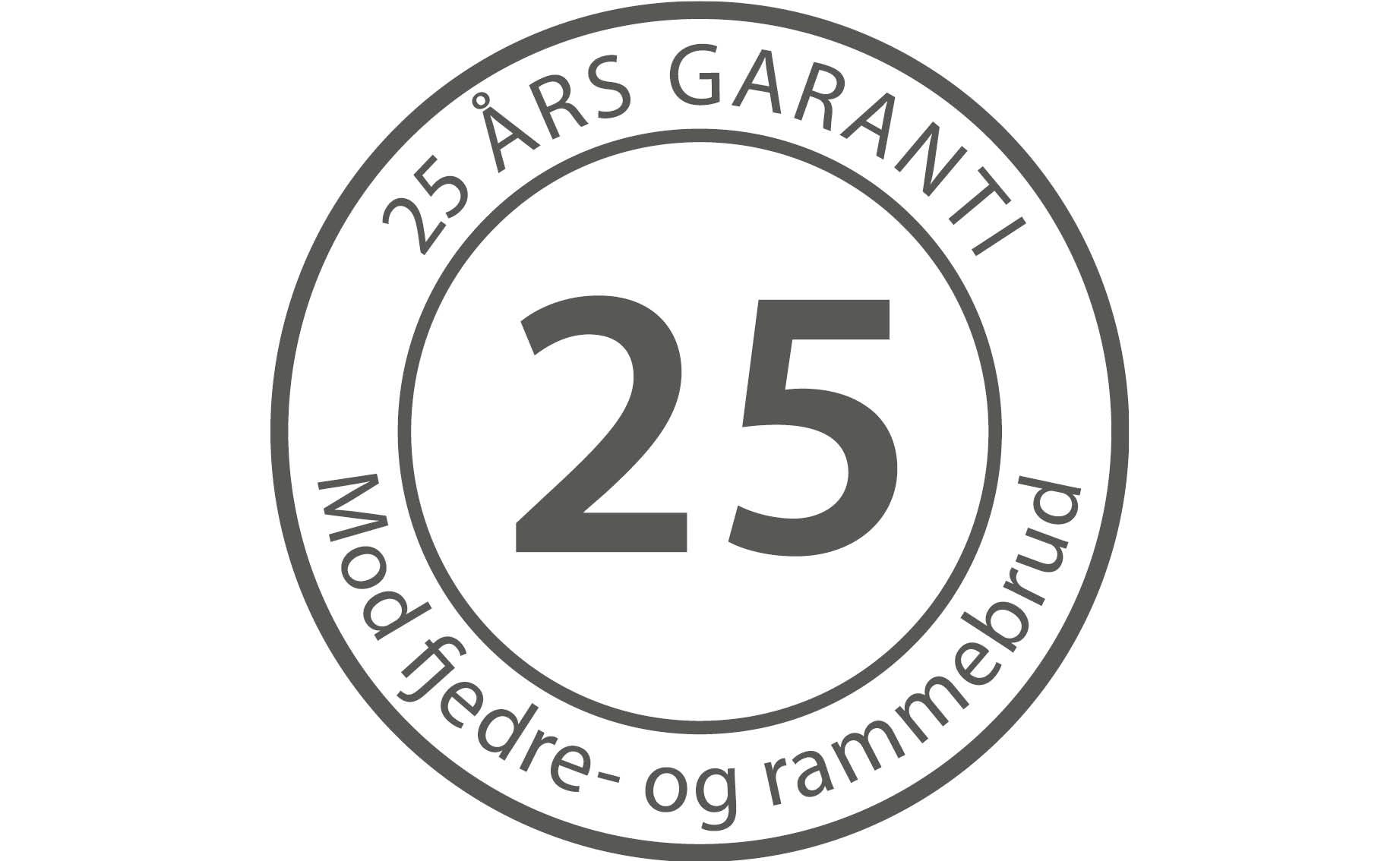 25 års garanti